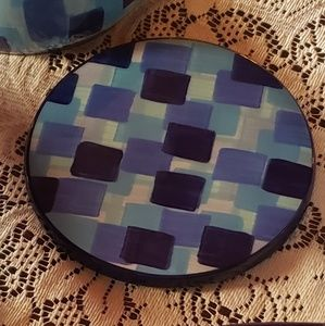 Gail Pittman Kaleidoscope Blue 2004 trivet for sale